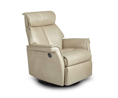 Korsvik Leather Power Recliner - Small Grey S552 - Scandinavian Designs