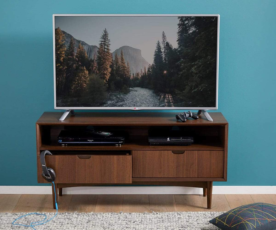 Juneau Media Stand WALNUT - Scandinavian Designs