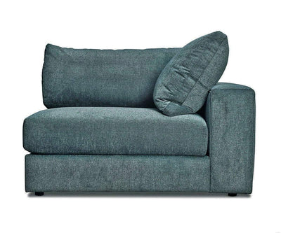Adrian Modular Sectional Linus Teal / One Arm Right Sofa - Scandinavian Designs