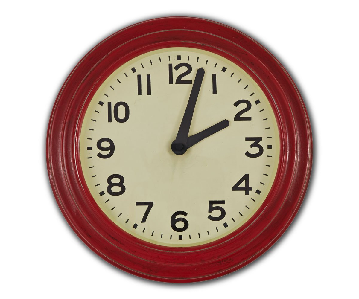 "Gittan 10"" Clock Red"