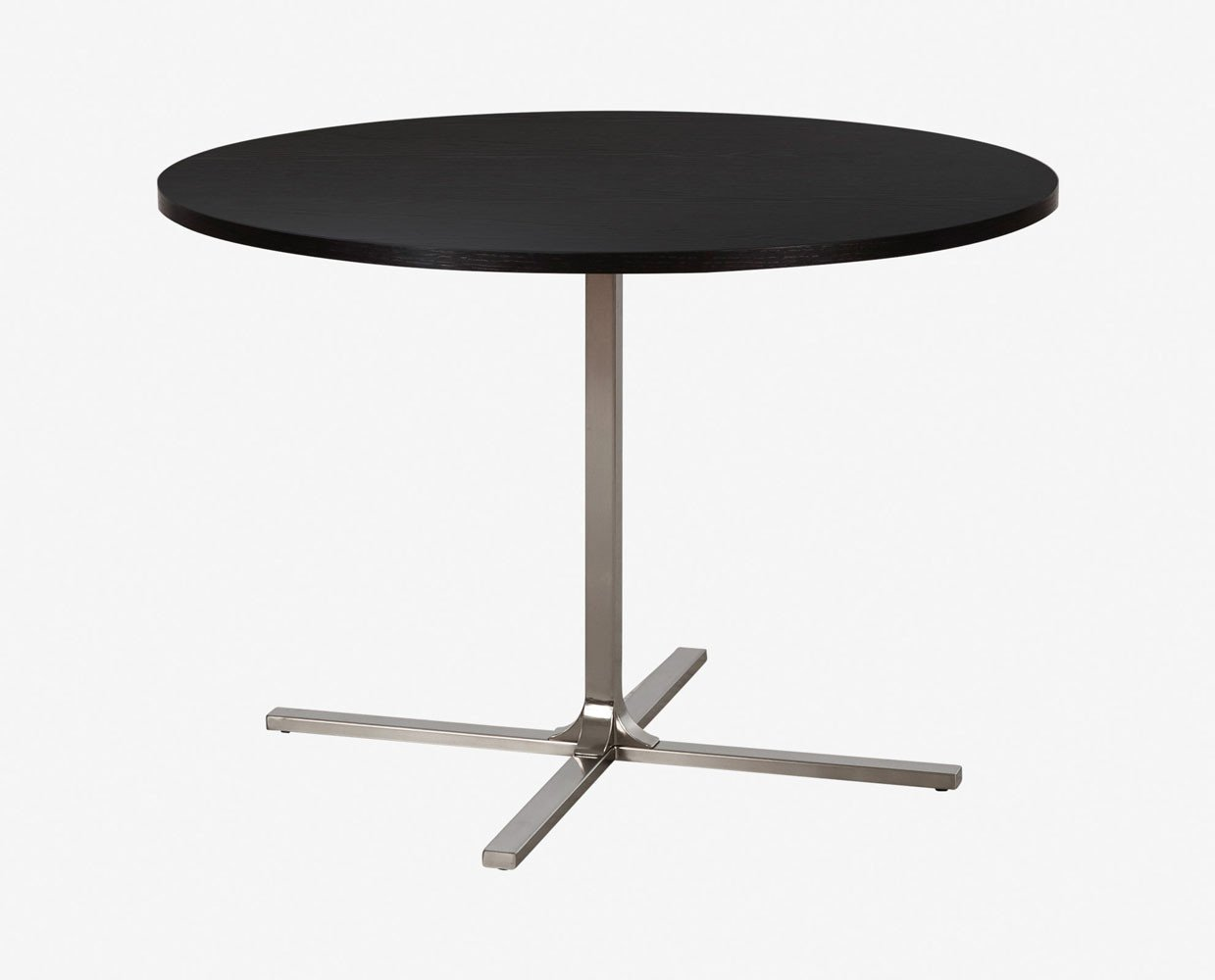 Contemporary nordic style black round dining table