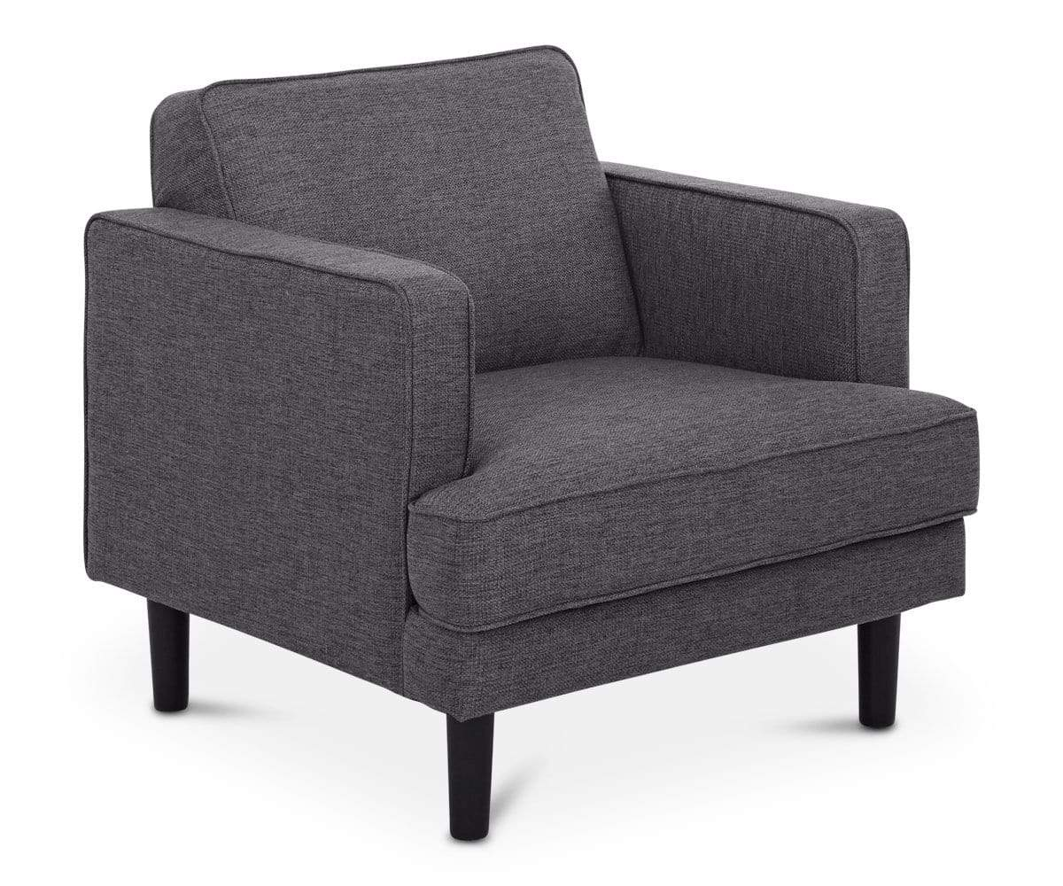 Modern grey tailored lounge chair