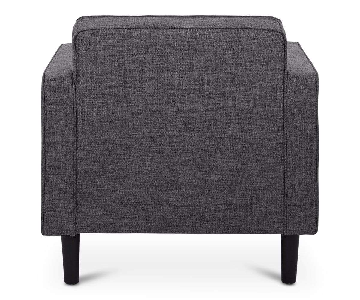 Modern gray minimalist upholstered chair