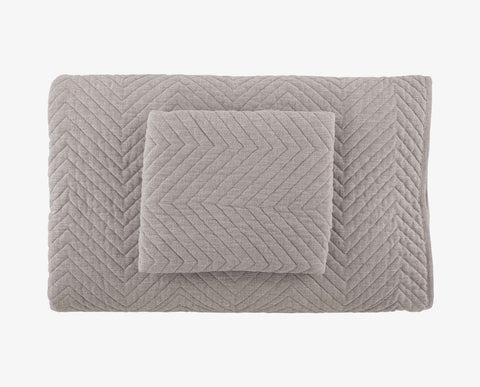 Warm modern chevron pattern bedspread coverlet