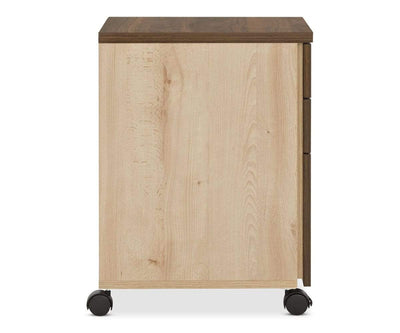 Thorsten Mobile File Pedestal Thorsten Walnut - Scandinavian Designs