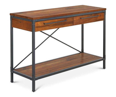Modern rustic Scandinavian living room storage table