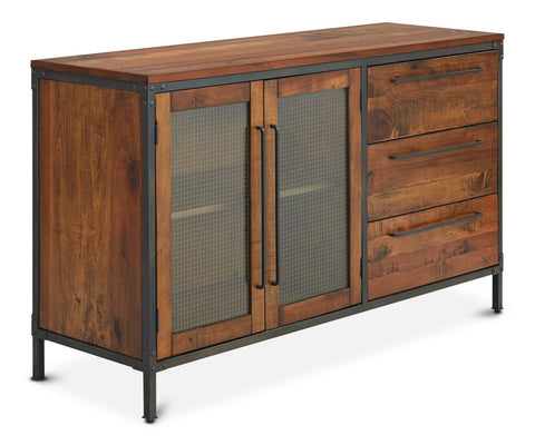Contemporary rustic nordic style dining sideboard