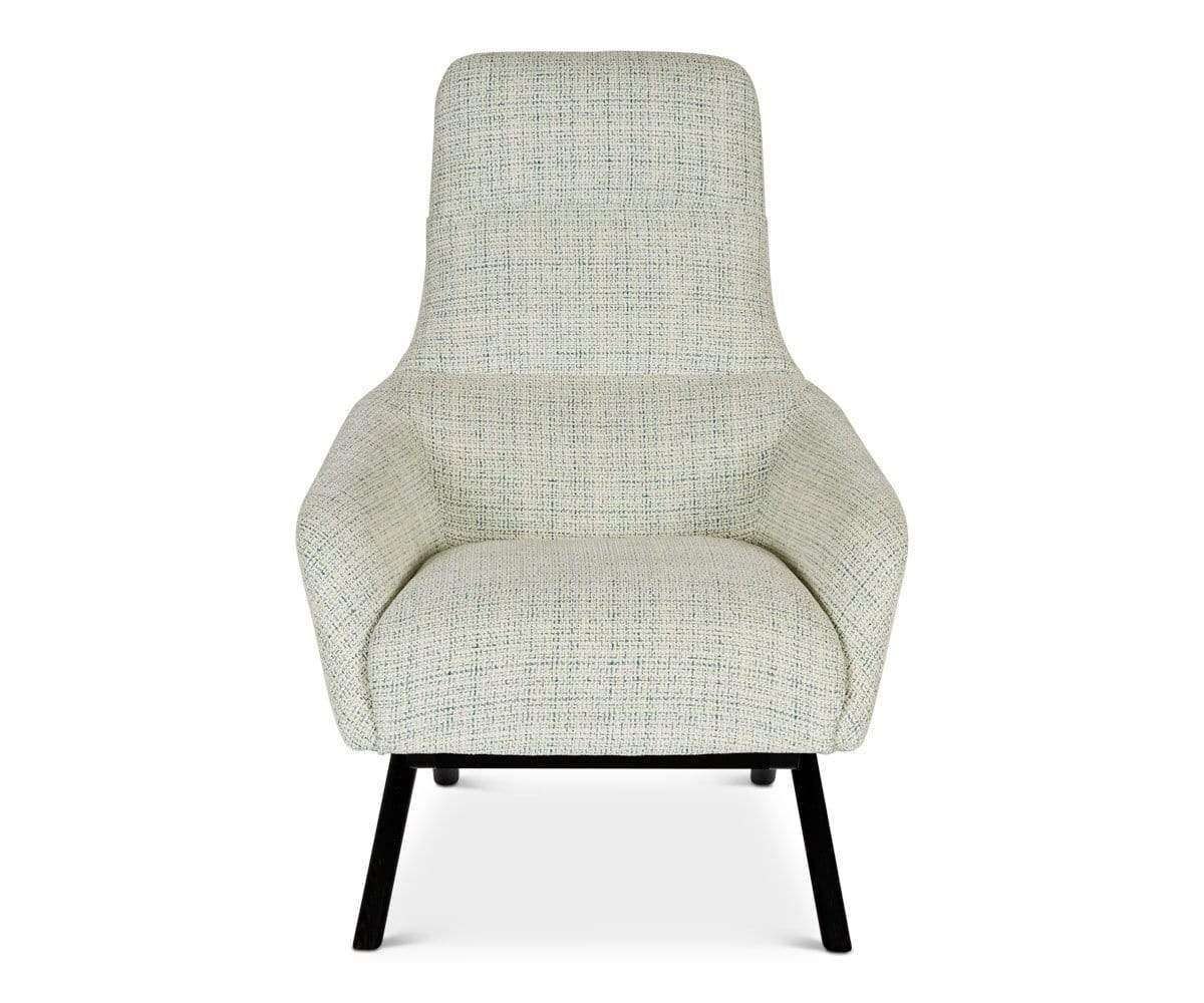 Teal vintage contemporary angular chair