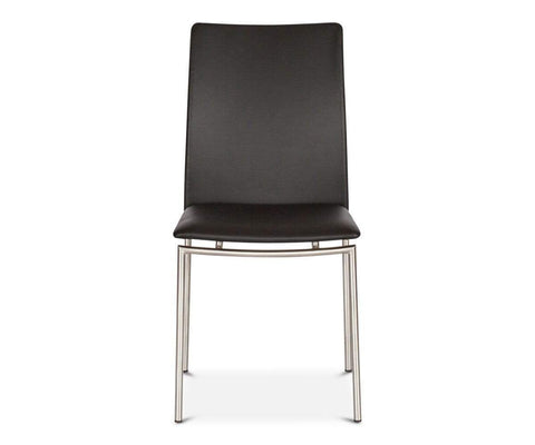 Plush leather classic modern dining chair