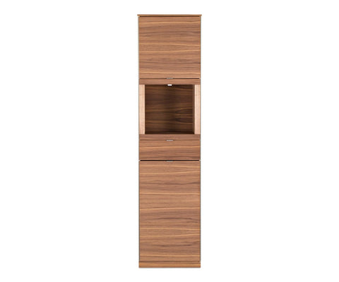 Contemporary wood storage cabinet
