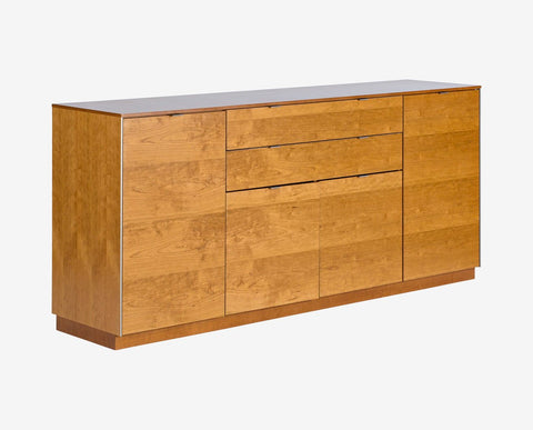 Cherry wood finish sideboard