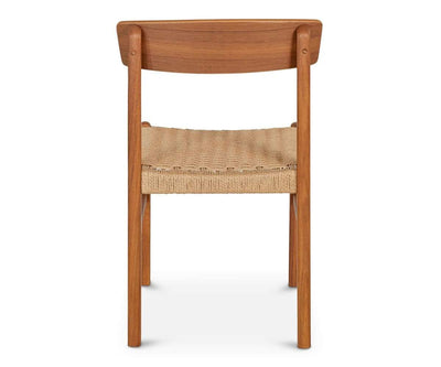 Raholt Dining Chair TEAK/ROPE - Scandinavian Designs