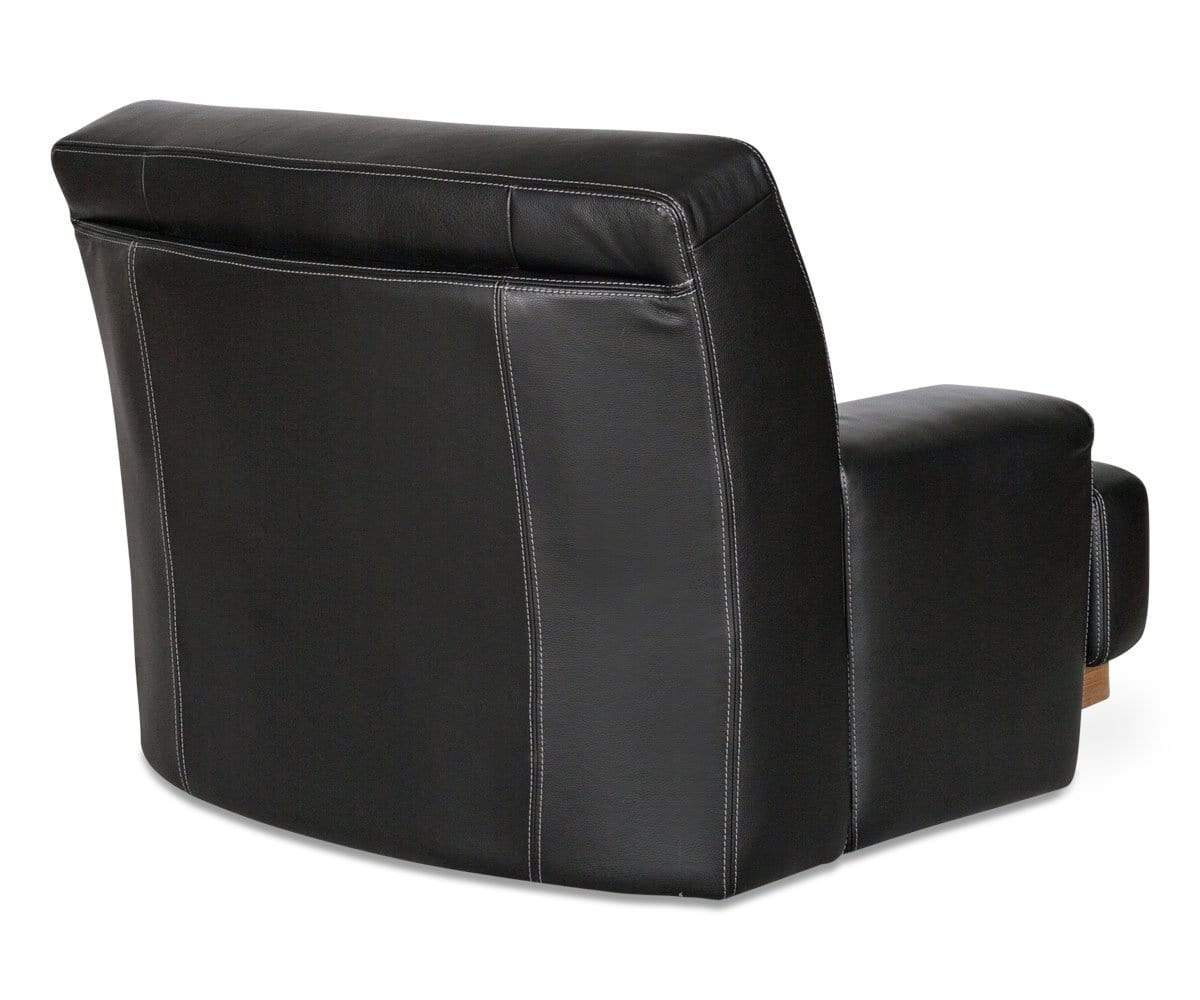 Modern upholstered leather seat