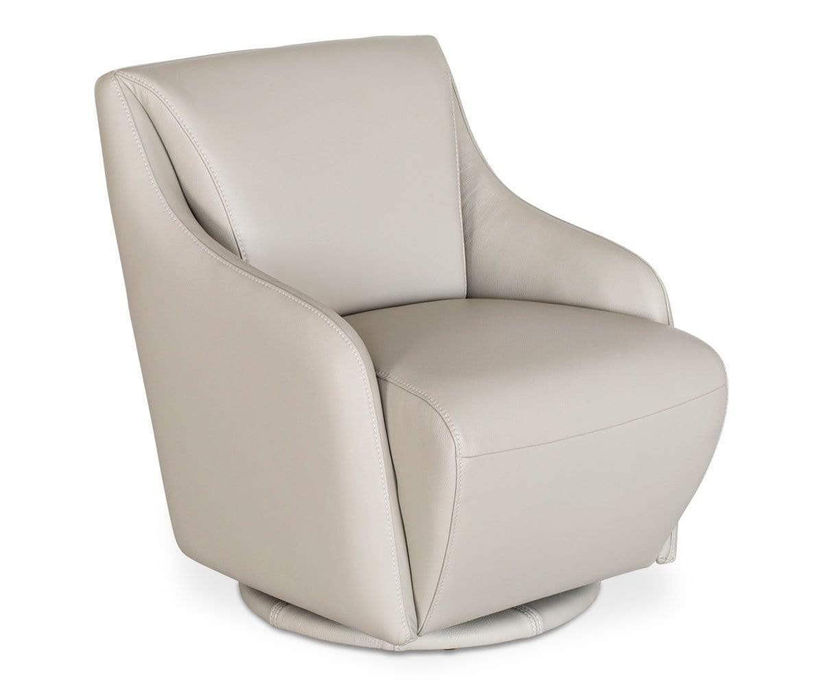 Stone leather swivel chair