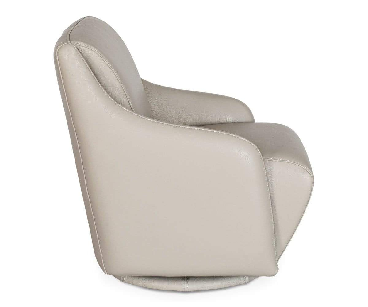 Scandinavian stone luxury leather swivel lounge chair