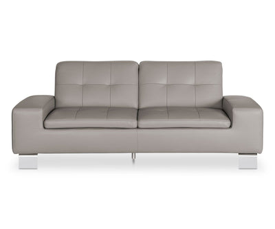 Francesca Leather Sofa - Grey GREY Z76/26 - Scandinavian Designs