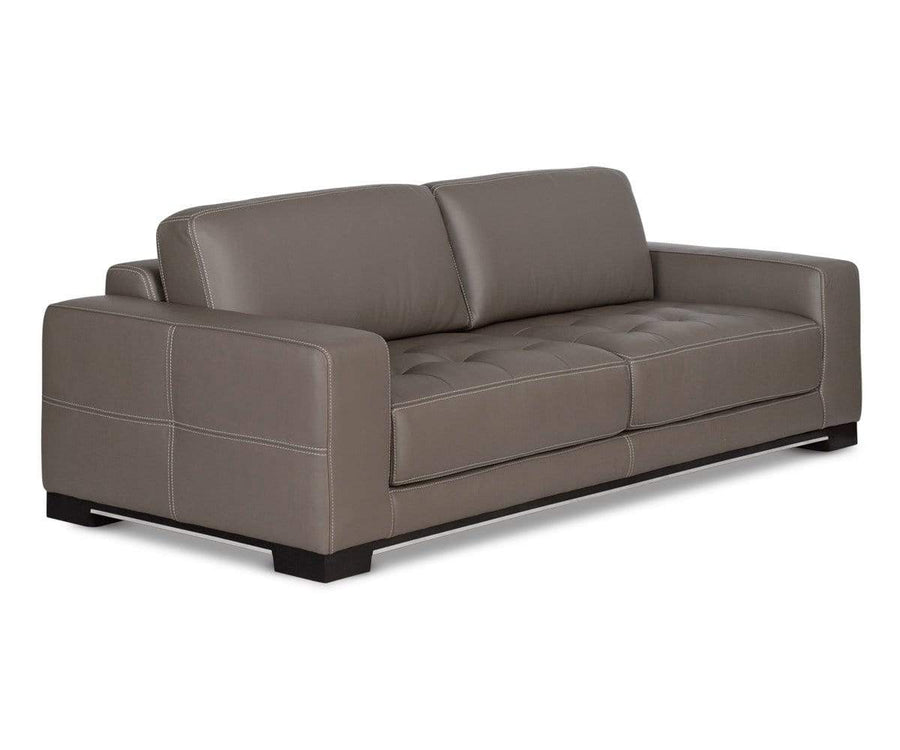 Andreas Leather Sofa DARK TAUPE Z76/22 - Scandinavian Designs