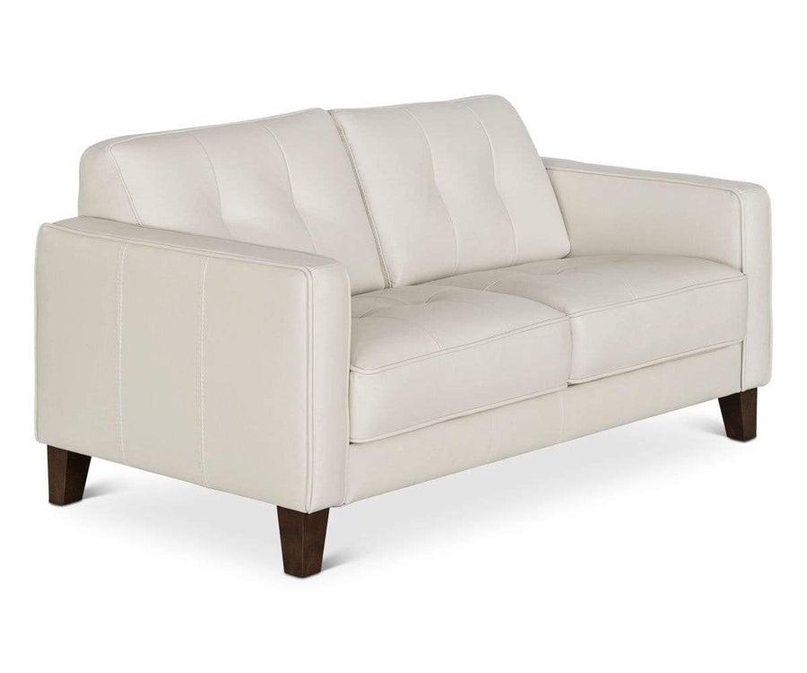 Gregata Leather Loveseat - Beige BEIGE MS117 - Scandinavian Designs