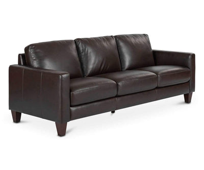 Pavel Leather Sofa BROWN MS1080 - Scandinavian Designs