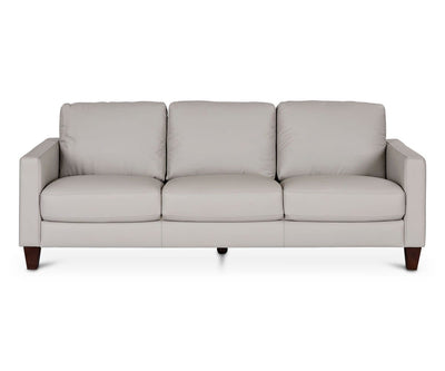 Pavel Leather Sofa GREY MS3010 - Scandinavian Designs