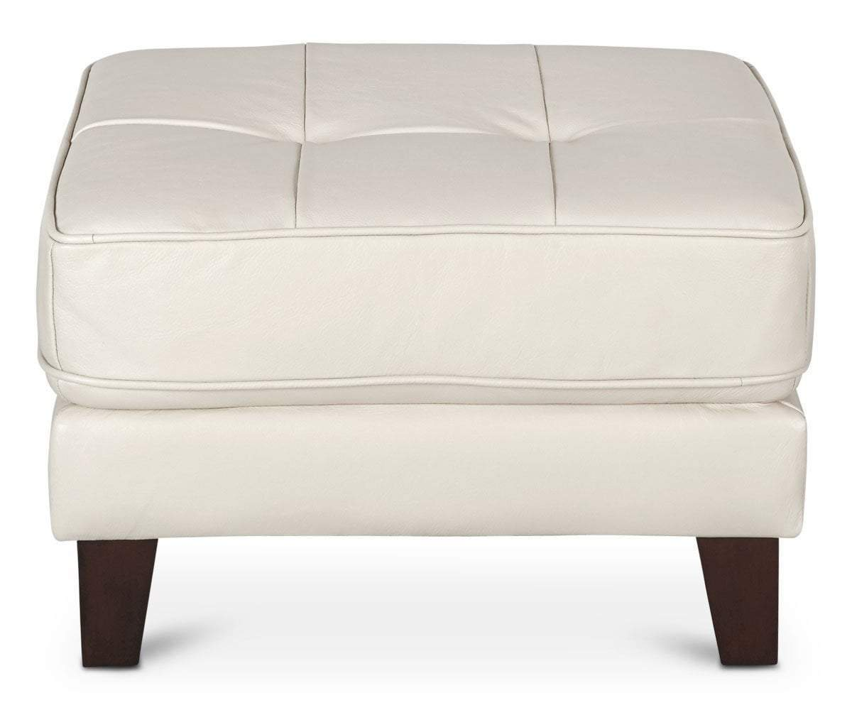 Cushioned upholstered nordic style ottoman
