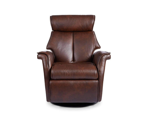 Korsvik Leather Power Recliner - Medium Brown S551 - Scandinavian Designs