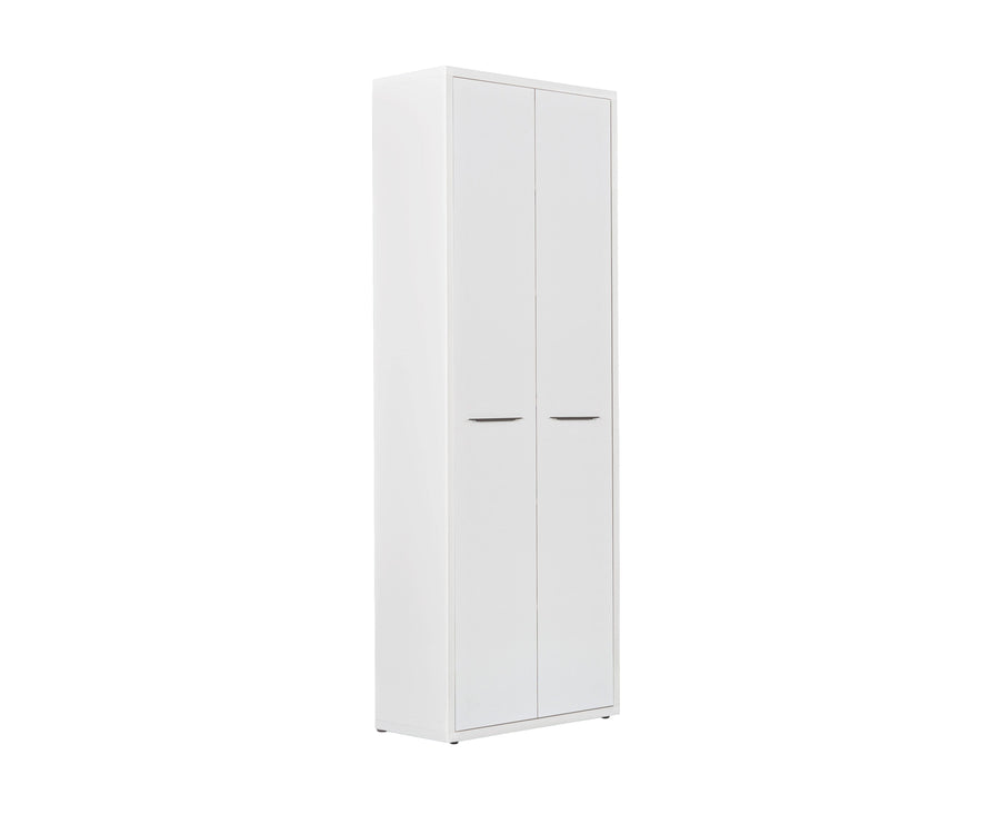 Gammel High Bookcase with Doors - White WHITE / Bookcase + Door Set - Scandinavian Designs