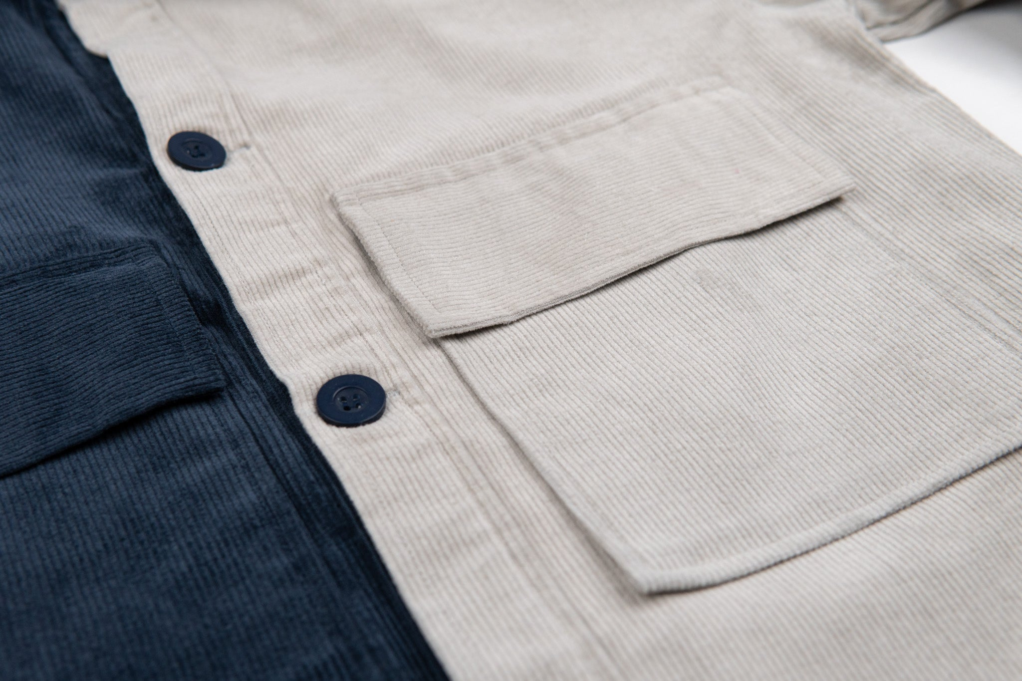 Two-tone Corduroy Overshirt
