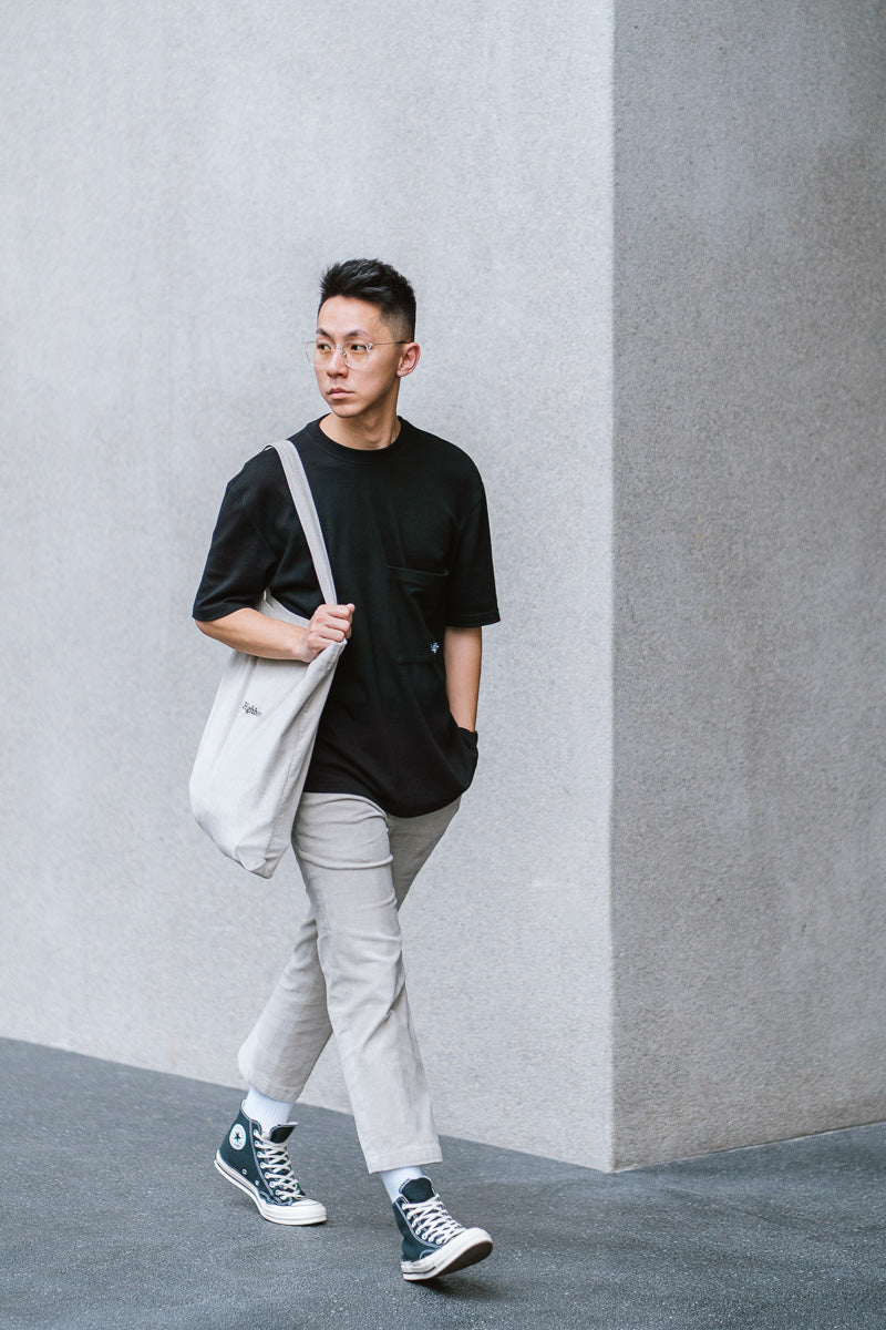Black Oversized Pocket Tee - Highborn