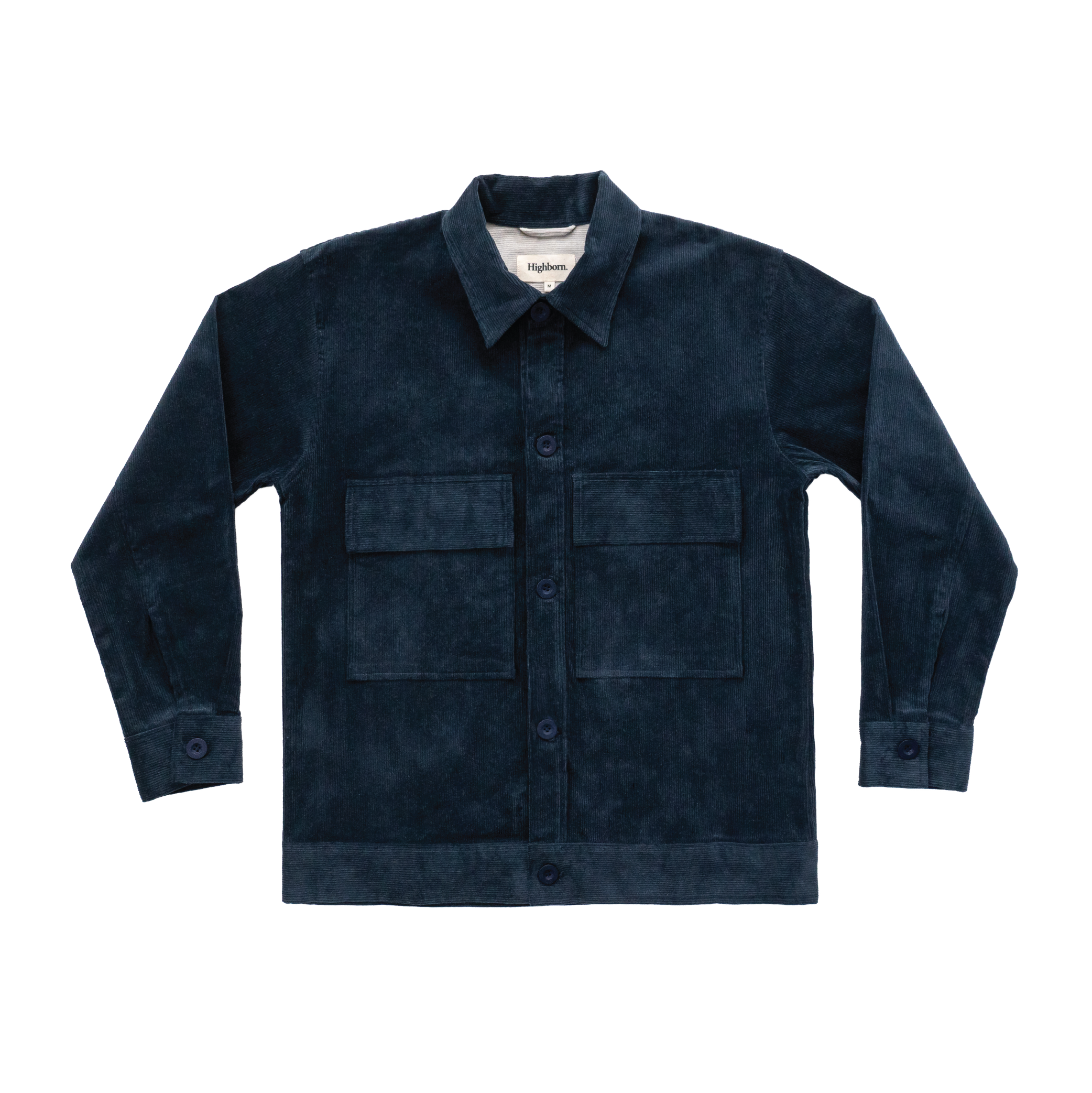 Prussian Blue Corduroy Overshirt - Highborn
