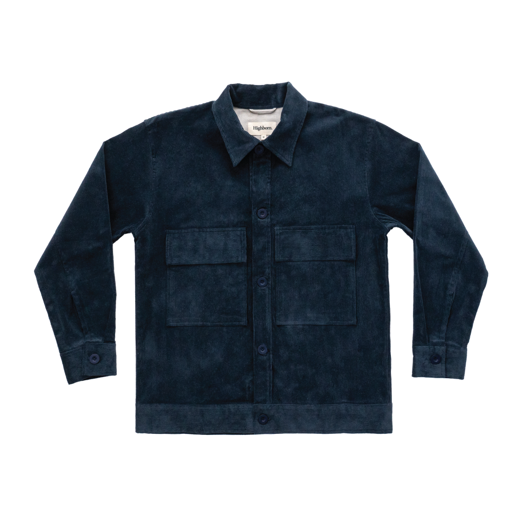 Prussian Blue Corduroy Overshirt