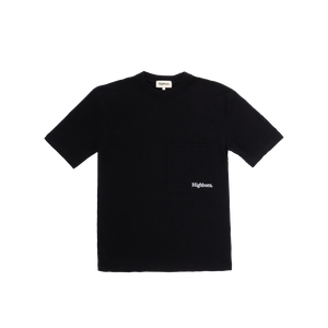 Black Oversized Pocket Tee