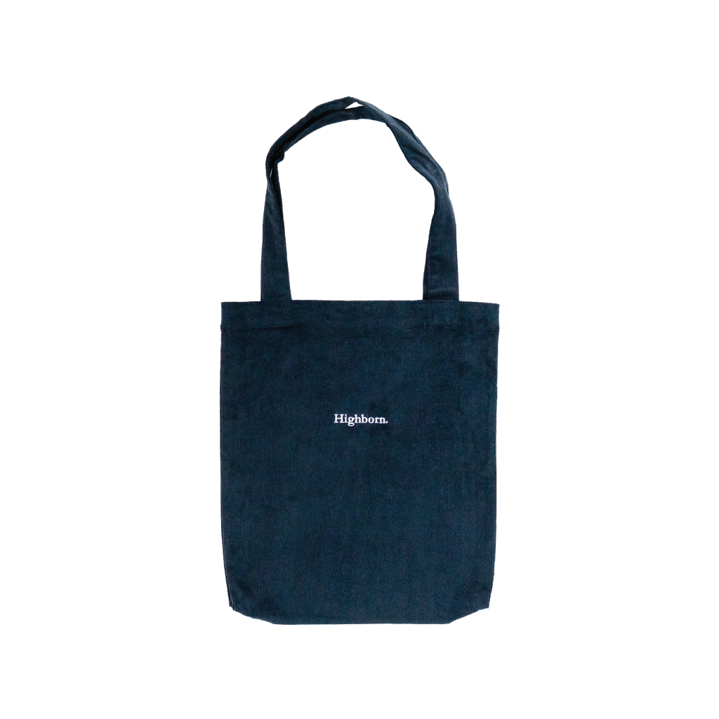 Prussian Blue Corduroy Tote
