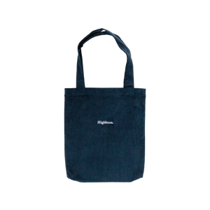 Prussian Blue Corduroy Tote - Highborn