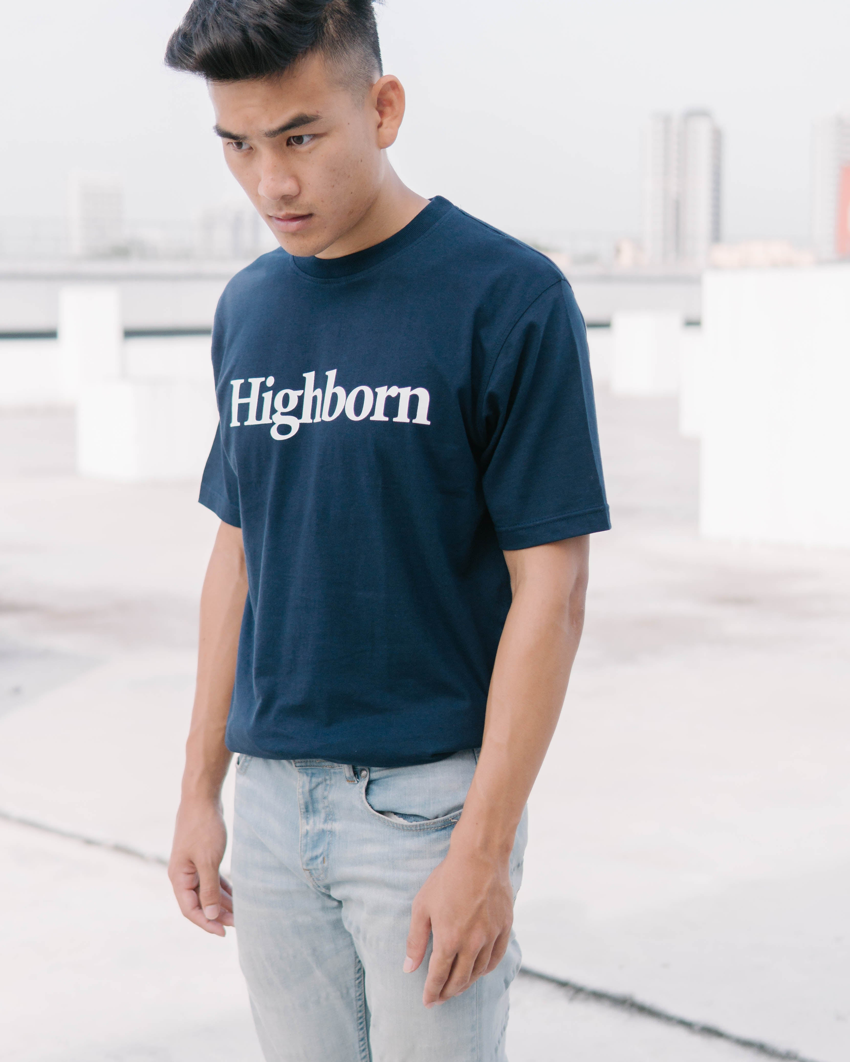 Highborn Navy Blue Logo Tee - Highborn