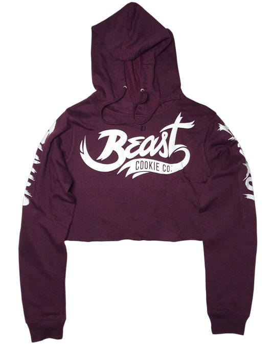 Beast Cookie Co. ladies crop top hoodie - Beast Cookie Co.