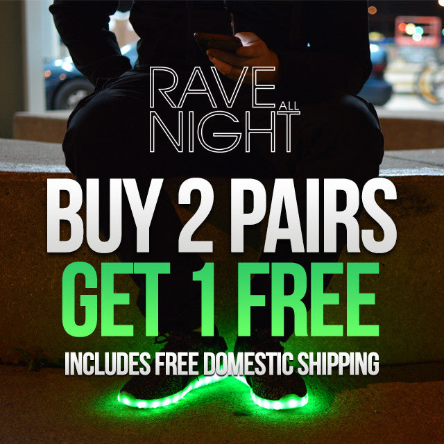 Rave All Night Led Shoe Black Friday Deal