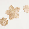 Nepalese Paper Garland: Flower - Gold/Natural - Kami Paper