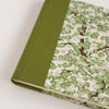 Art Wrap Spiral Lined A5 (148mm x 210mm) - Green Cherry Blossoms, Journal, Kami - Kami