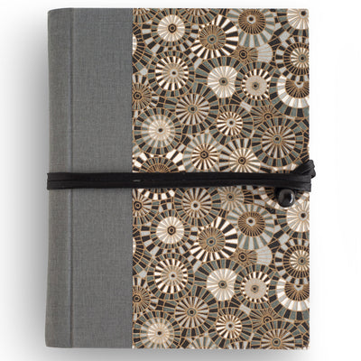 Art Wrap Spiral Lined A5 (148mm x 210Mm) - Grey Spirals, Journal, Kami - Kami