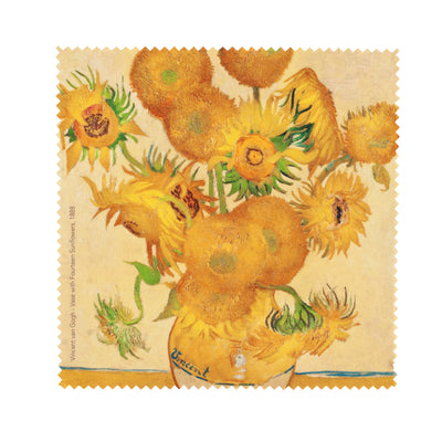 Microfibre Glasses Cloth (Vase with Fourteen Sunflowers) - Kami Paper