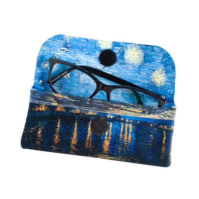 Microfibre Valour Glass Case (Nightlife on the river Rhine)