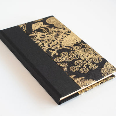 Art Ivory Hard Cover Journal (A5) - Lokta Kongpo - Black / Gold, Journal, Kami - Kami