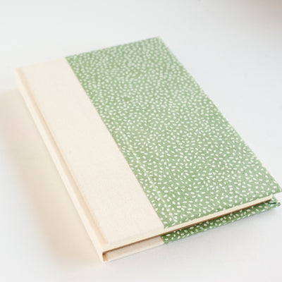 Art Ivory Hard Cover Journal (A5) - Lokta Rice Green / White, Journal, Kami - Kami