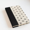 Art Ivory Hard Cover Journal (A5) - Lokta Dandelion Black / Natural, Journal, Kami - Kami
