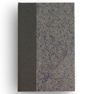 Art Ivory Hard Cover Journal (A5) - Lokta Flower - Indigo, Journal, Kami - Kami