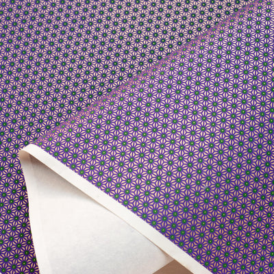 CH10: Purple On Gold Geometrics, Paper, Kami - Kami
