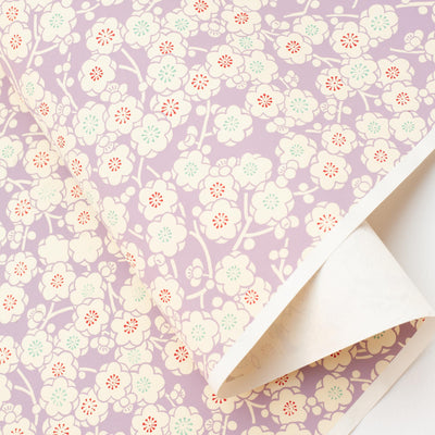 CH160: Plum Flower on Mauve, Paper, Kami - Kami