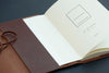 KAMI Designed Leather Book / Journal Dust Cover - Brown