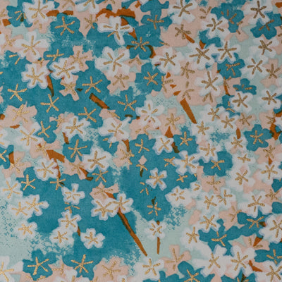 Chiyogami Yuzen Silk-Screened Paper Blossoms